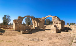 Ancient Roman arches in Paphos archaeological park, Pafos,Cyprus Stock Image