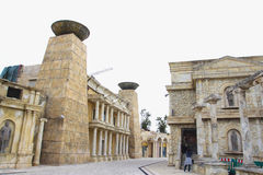 Ancient Roman architectural part of an entertainment complex in Stock Images