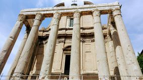 Ancient Roman Architecture, Historic Site, Classical Architecture, Roman Temple stock photography