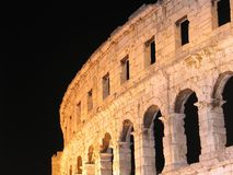 Ancient Roman arena in Pula, Croatia. One of the best preserved ancient Roman arenas (similar to the famous Colosseum in Rome): Pula, Croatia Stock Image