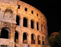 Ancient Roman arena in Pula, Croatia. One of the best preserved ancient Roman arenas (similar to the famous Colosseum in Rome): Pula, Croatia Stock Photography
