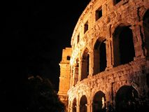 Ancient Roman arena in Pula, Croatia Stock Images