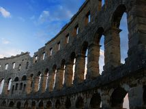 Ancient Roman arena in Pula, Croatia Royalty Free Stock Image
