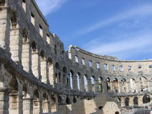 Ancient Roman Arena, Pula, Croatia Stock Photo