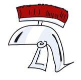 Ancient Roman armor helmet Stock Image