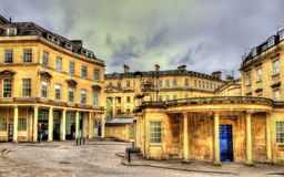 Ancient roman baths in Bath city Royalty Free Stock Photo