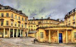 Ancient roman baths in Bath city. England Royalty Free Stock Photo