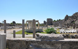 The ancient Roman baths Royalty Free Stock Photos
