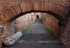 Ancient Roman  brick arch Royalty Free Stock Image