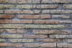 Ancient Roman brick wall Royalty Free Stock Photos