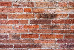 Ancient roman brick wall, closeup. Pompeii in Italy.  royalty free stock images