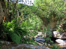 Ancient roman bridge Stock Photos
