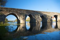 Ancient roman bridge at barco village Royalty Free Stock Photography