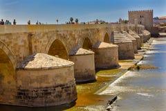 Ancient Roman Bridge Guadalquivir River Cordoba Spain Royalty Free Stock Image
