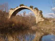 Ancient Roman bridge of Mantib Stock Images