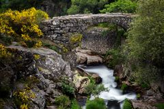 Ancient Roman bridge Stock Photography