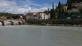 Ponte di Pietra Verona stock footage