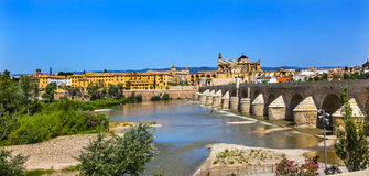 Ancient Roman Bridge River Guadalquivir Cordoba Spain Stock Image
