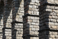 Ancient roman bridge of segovia, detail Royalty Free Stock Photo