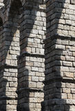Ancient roman bridge of segovia, detail Stock Photo