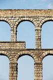 Ancient roman bridge of segovia, spain Stock Photos