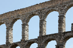 Ancient roman bridge of segovia Royalty Free Stock Photography