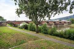 Ancient Roman bridge in Trier Royalty Free Stock Images
