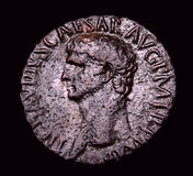Ancient Roman Bronze Coin Agrippa Royalty Free Stock Photography