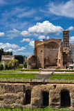 Ancient roman buildings in Rome Italy Royalty Free Stock Photo