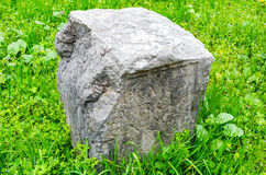 Ancient roman burial stone in Verona royalty free stock photos