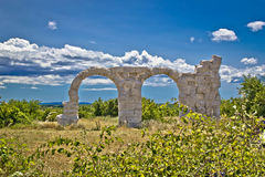Ancient Roman Burnum archaeological site Royalty Free Stock Photo