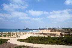 Ancient roman caesarea Stock Photography
