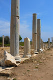 Ancient Roman Cardo Street In Side, Stock Photography