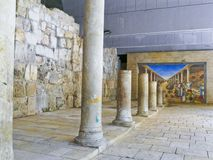 Ancient Roman Cardo street Jerusalem This is part of the cardo, Stock Images