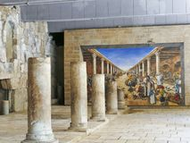Ancient Roman Cardo street Jerusalem This is part of the cardo, Stock Photography
