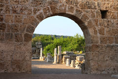 Ancient roman Cardo street in Perge, Royalty Free Stock Photos