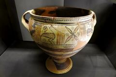 Ancient Roman ceramic container Royalty Free Stock Photo