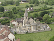 Ancient roman church in France Royalty Free Stock Photography