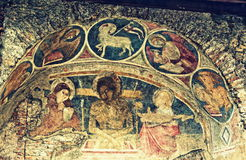 Ancient Roman church frescoed apse Rome Italy Royalty Free Stock Image