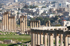 Jordan, ruins of ancient Roman city of Jerash Stock Photos