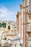 Ancient Roman city of Jerash Royalty Free Stock Photos