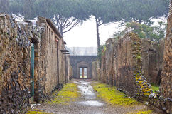 Ancient Roman city of Pompei, Italy Stock Photo