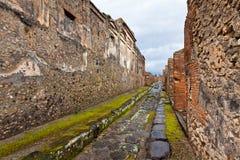 Ancient Roman city of Pompei, Italy Royalty Free Stock Photo