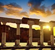 Ancient Roman city of Pompeii Stock Photography
