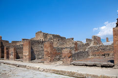 Ancient Roman city of Pompeii, which was destroyed and buried by Stock Photography