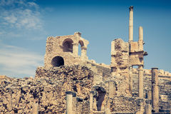 Ancient Roman city in Tunisia, Dougga Royalty Free Stock Image