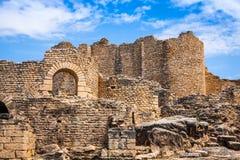 Ancient Roman city in Tunisia, Dougga Stock Photo