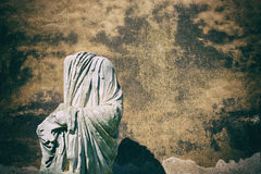 Ancient roman classic statue symbol of past age Stock Images