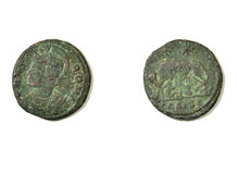 Ancient Roman coin Royalty Free Stock Photo