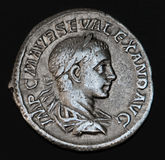 Ancient Roman Coin Geta. An Ancient Roman Coin With The Head Of Geta Stock Image